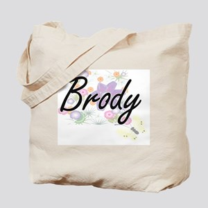 Brody surname artistic design with Flower Tote Bag