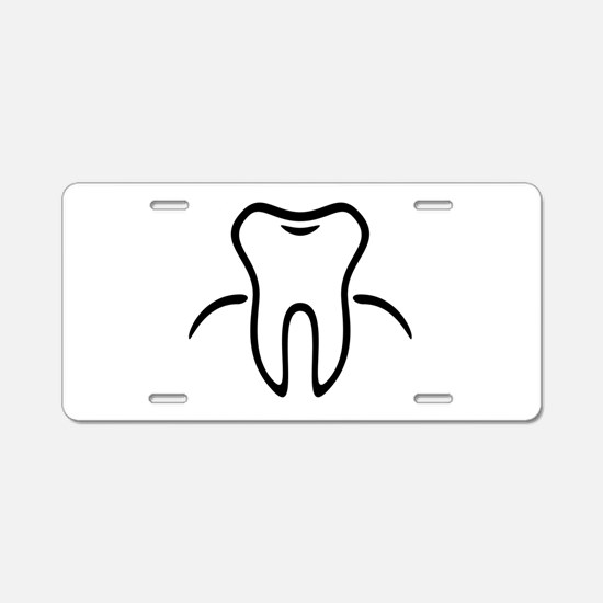 Tooth With Gingiva / Zahn / Aluminum License Plate
