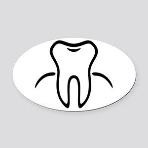 Tooth With Gingiva / Zahn / Dent / Oval Car Magnet