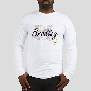 Bradley surname artistic desig Long Sleeve T-Shirt