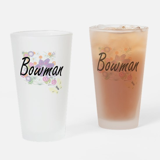 Bowman surname artistic design with Drinking Glass