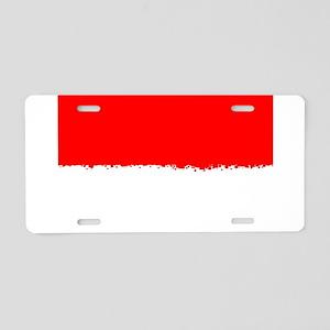 8 bit flag of Indonesia Aluminum License Plate