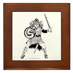 Viking Warrior Framed Tile