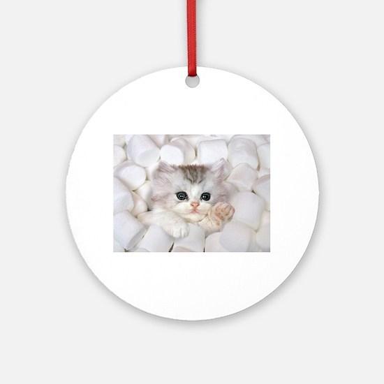 Kitten Round Ornament
