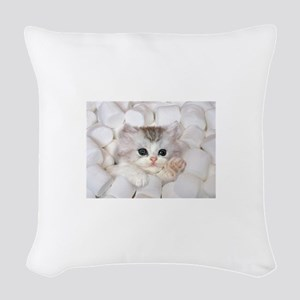 Kitten Woven Throw Pillow
