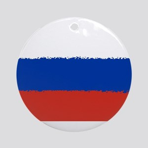 8 bit flag of Russia Round Ornament
