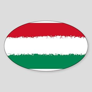 8 bit flag of Hungary Sticker