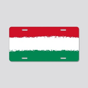 8 bit flag of Hungary Aluminum License Plate