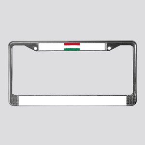 8 bit flag of Hungary License Plate Frame