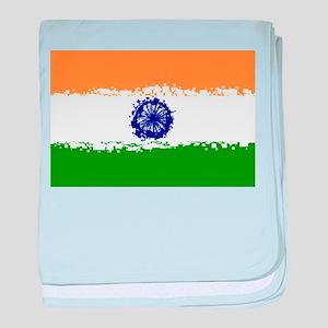 8 bit flag of India baby blanket