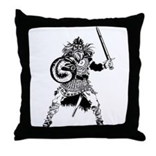 Viking Warrior Throw Pillow