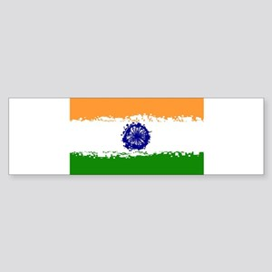 8 bit flag of India Bumper Sticker