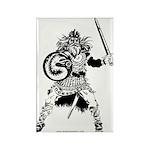 Viking Warrior Rectangle Magnet (10 pack)