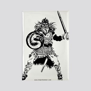 Viking Warrior Rectangle Magnet