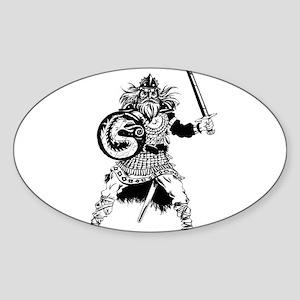 Viking Warrior Sticker (Oval)