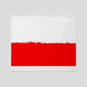 8 bit flag of Poland Throw Blanket