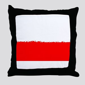 8 bit flag of Poland Throw Pillow