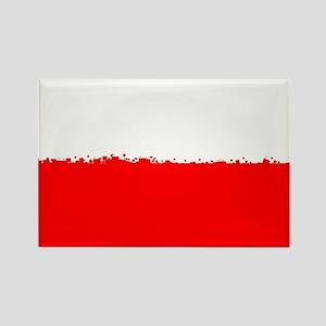 8 bit flag of Poland Magnets