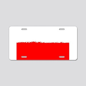 8 bit flag of Poland Aluminum License Plate