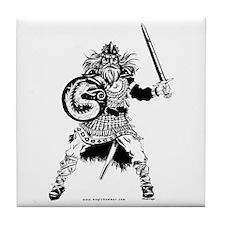 Viking Warrior Tile Coaster