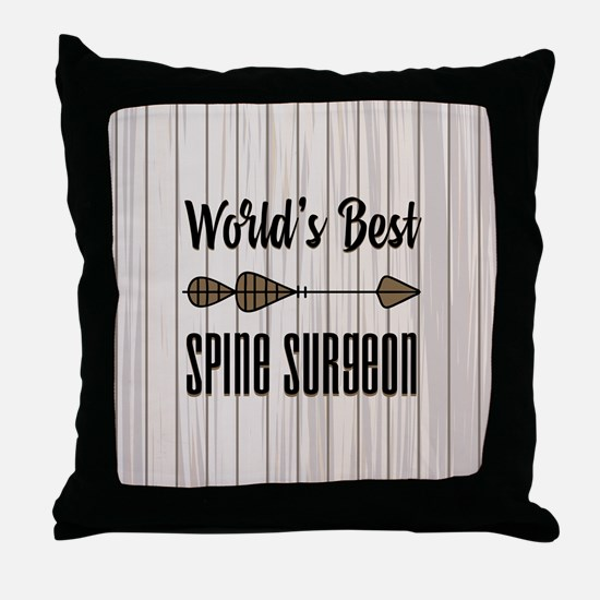 Gift for Spine Surgeon Throw Pillow