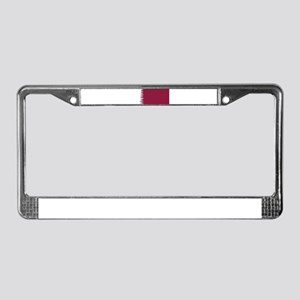 8 bit flag of Qatar License Plate Frame