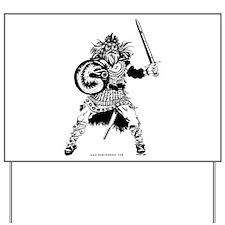 Viking Warrior Yard Sign