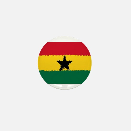 8 bit flag of Ghana Mini Button