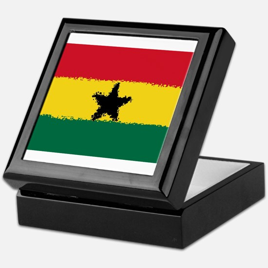 8 bit flag of Ghana Keepsake Box