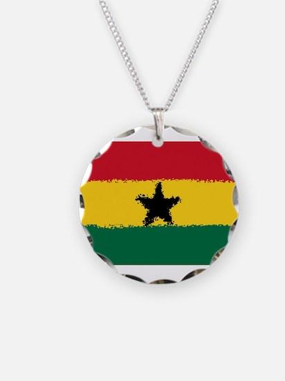 8 bit flag of Ghana Necklace