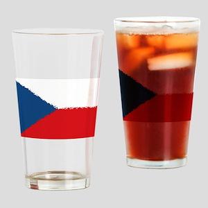 Czech Republic in 8 bit Drinking Glass