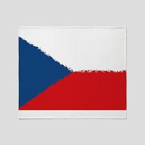 Czech Republic in 8 bit Throw Blanket