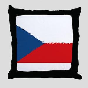 Czech Republic in 8 bit Throw Pillow