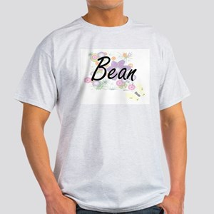 Bean surname artistic design with Flowers T-Shirt