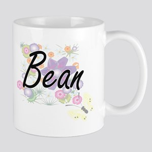 Bean surname artistic design with Flowers Mugs