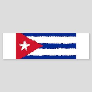 Cuba in 8 bit Bumper Sticker