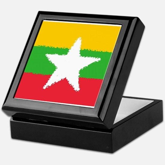 Burma in 8 bit Keepsake Box