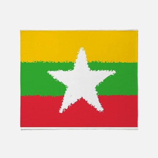Burma in 8 bit Throw Blanket