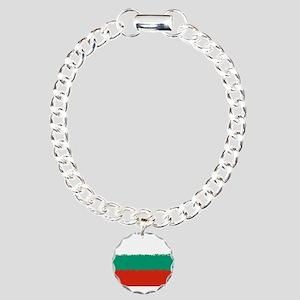 Bulgaria in 8 bit Charm Bracelet, One Charm