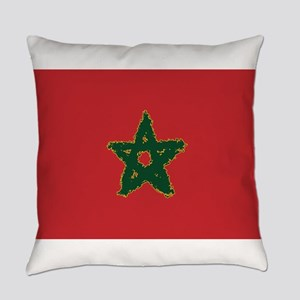 8 Bit Flag of Morocco Everyday Pillow