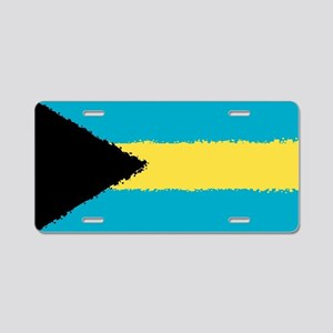 Bahamas in 8 bit Aluminum License Plate