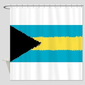 Bahamas in 8 bit Shower Curtain