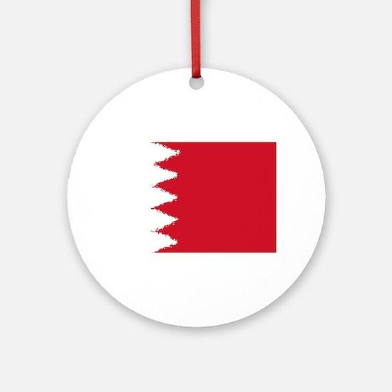 Bahrain in 8 bit Round Ornament