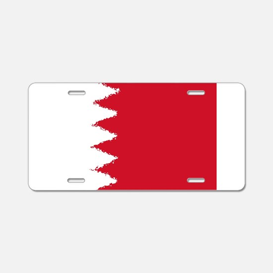 Bahrain in 8 bit Aluminum License Plate