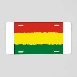 Bolivia in 8 bit Aluminum License Plate