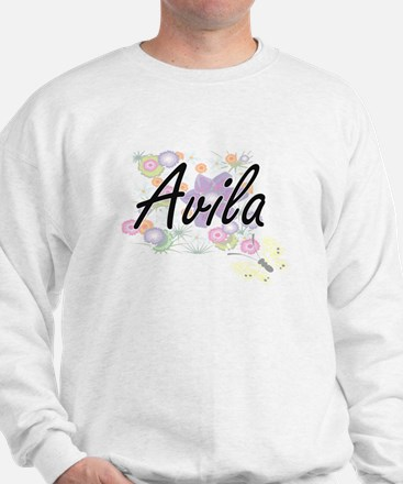 Avila surname artistic design with Flow Sweatshirt