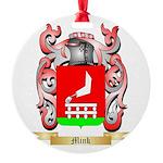 Mink Round Ornament