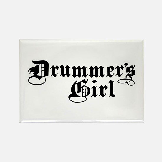 Drummer's Girl Rectangle Magnet