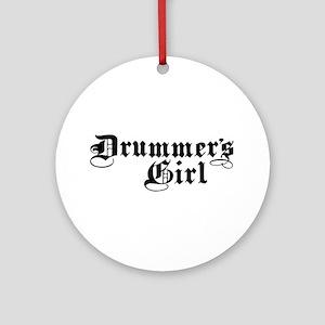 Drummer's Girl Ornament (Round)