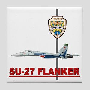 Su-27 Flankers Tile Coaster